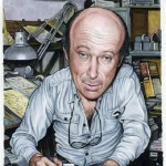 Self-caricature. Harvey Kurtzman, American cartoonist