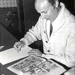Work in progress. Harvey Kurtzman at work