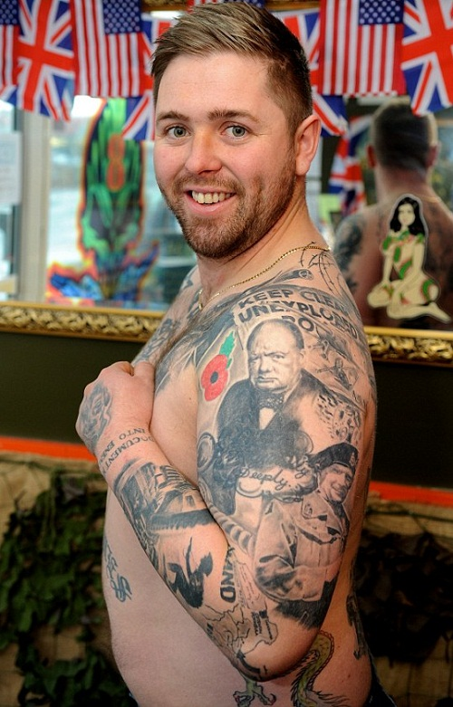 Tattooed Nolan Holmes