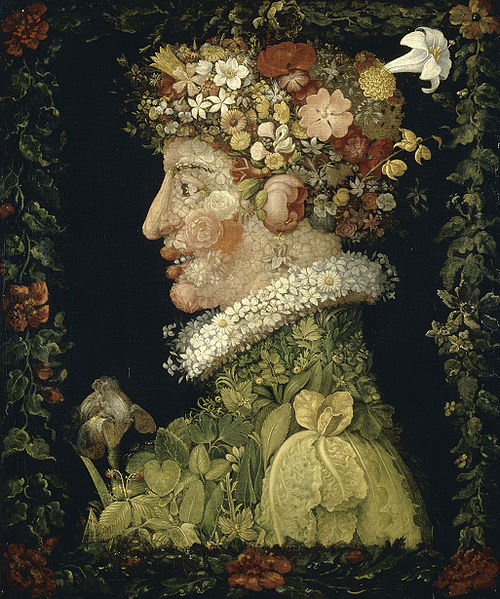 Flower portrait by Giuseppe Arcimboldo