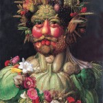 The original portrait painted in 1590 by Italian Giuseppe Arcimboldo