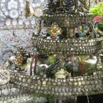 Fragment of porcelain decoration in the House of broken porcelain, France