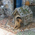 And even the dog house – made entirely of broken Crockery