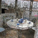 All pieces of furniture made of broken china