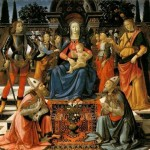 Madonna Enthroned with the Saints. 1484, Galleria degli Uffizi, Florence