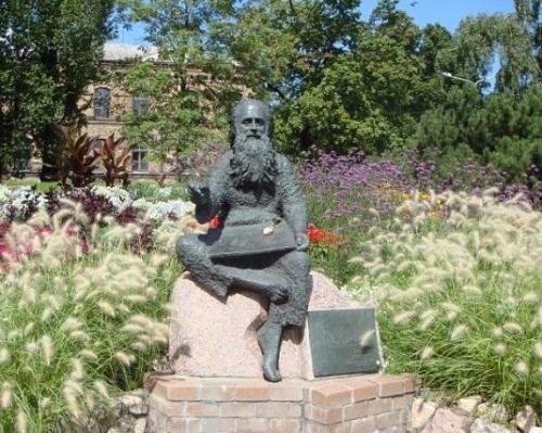 Monument to Latvian artist Irbit Voldemars