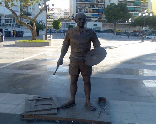 Monument to Picasso in Torremolinos, Spain