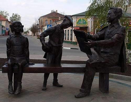 Monument to the artist in Yelets, Russia