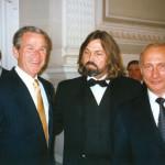George Bush and Vladimir Putin