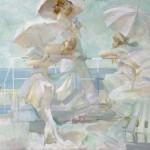 Sunny day. Painting by Russian artist Evgeny Kuznetsov