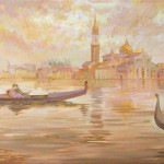 Venice. Painting by Russian artist Evgeny Kuznetsov