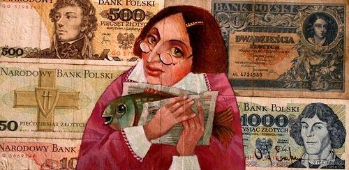 Pani Hava and Karasik to Purim. Money power in painting by Ukrainian artist Oleg Demko