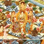 Bottom left the Medicine Buddha (detail).