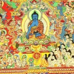 """Characters of the painting """"The paradise of the Medicine Buddha"""""""