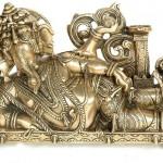 Reclining Ganesha with Lamp (Diya)
