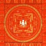 Red Mandala of Compassion (With Four Armed Avalokiteshvara) center