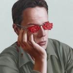 Glasses – roses. Romanian artist Mihai Criste