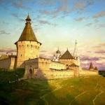 Serpukhov Kremlin, 1556. Mythological paintings by Russian artist Nikolai Burdykin