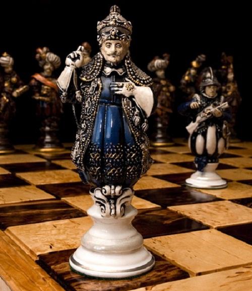 'Battle of Vienna'. Set of chess