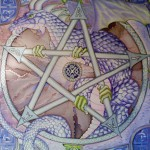 Dragon and Runic symbols. Celtic designs and runes were selected specifically for the hostess of the handkerchief
