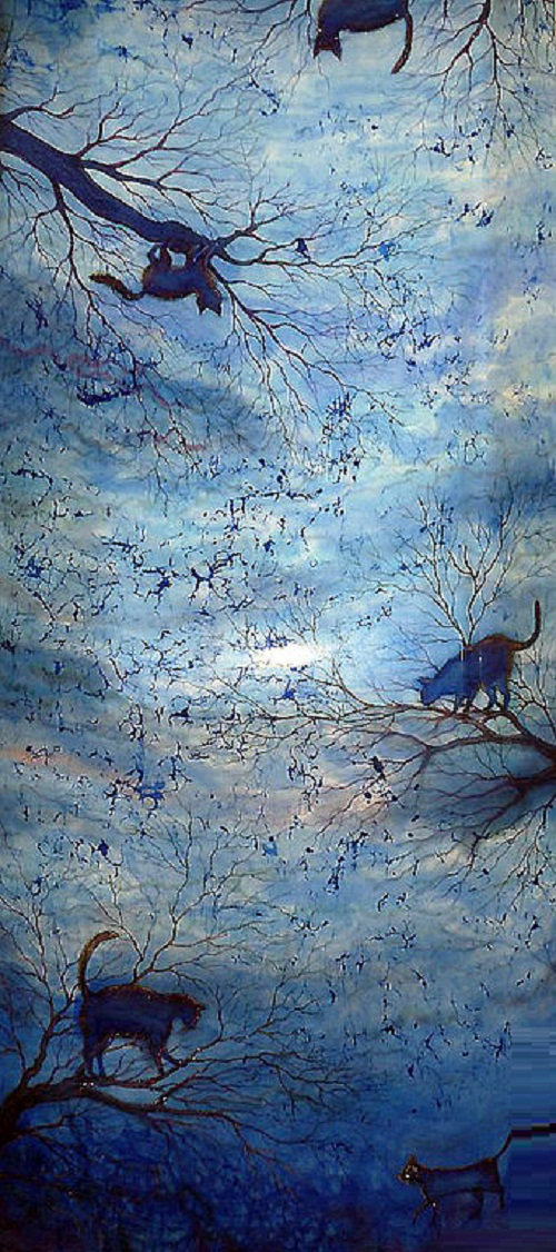 Painting on silk by Xenia