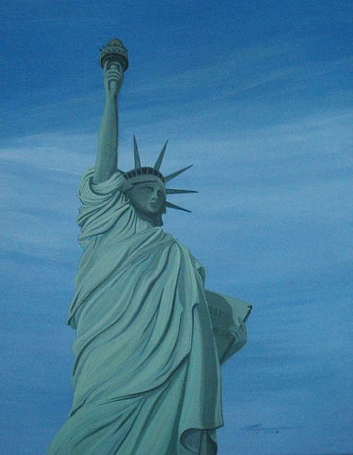 Artists with disabilities. Statue of liberty by Dennis Francesconi