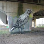 Under the bridge. Street art by Belgian graffiti artist Roa