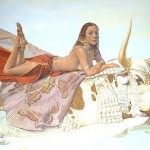 The Rape Of Europa. Mythological paintings by Moscow based artist Nikolai Burdykin