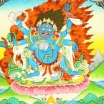 The Six-Armed (Shadbhuja) Mahakala (mGon po phyag drug pa) - A Highly Symbolic Image. Thangka Gallery