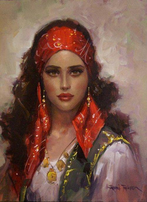 Gypsy Woman Painting Beauty will save Turki...