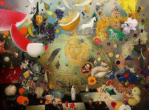 Vanity of vanities. Human world. Painting by Belarusian artist Elena Shlegel