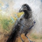 A crow. Painting by Russian artist Igor Medvedev