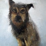 Portrait of a dog. Painting by Russian artist Igor Medvedev
