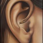 Ear-snake. Painting by Romanian artist Mihai Criste