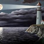 Lighthouse. Painting by Romanian artist Mihai Criste