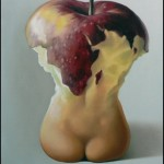 Apple body. Painting by Romanian artist Mihai Criste