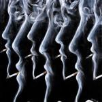 Smoking. Painting by Romanian artist Mihai Criste