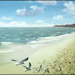 Seagulls. Painting by Romanian artist Mihai Criste