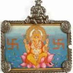 Pendant Ganesha with Hindu swastika symbol