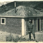 The first bottle house constructed in 1902 in Tonopah, Nevada, by William Peck