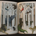 """Animal Story"" Book Sculpture"