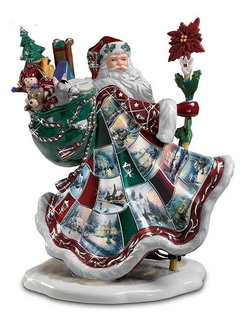 Christmas decorations by American artist Thomas Kinkade. Thomas Kinkade Christmas decoration