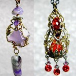 Long earrings. Steam punk jewellery by Irina Maritskaya