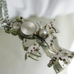 Made of watches and clocks mechanisms decorations