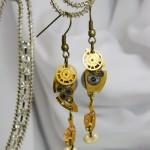 Watch parts earrings