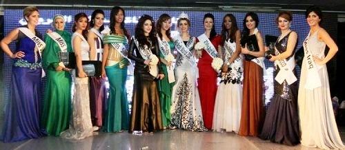 Arab beauties contest Miss Arab World 2012, Giza, Egypt