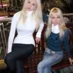 Young Christina (left) and Valeria Lukyanova