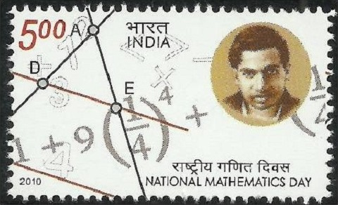National mathematics day stamp, 2010