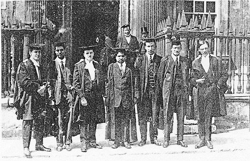'Raw genius' Ramanujan at Cambridge (center)