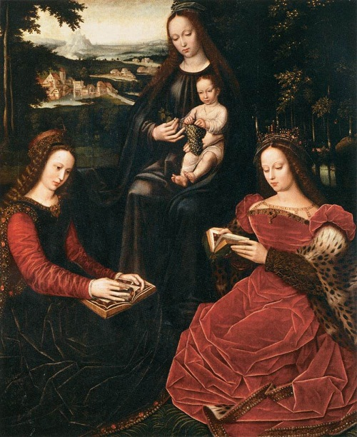Ambrosius Benson (circa 1495–1550) Virgin and Child with Saints. Date between 1530 and 1532